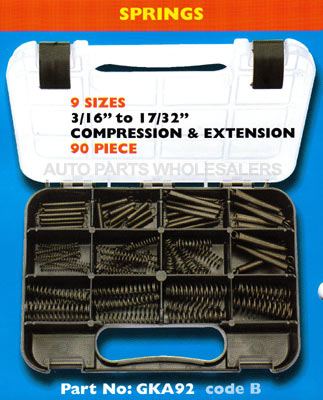 72 Pieces CHAMPION COMPRESSION SPRINGS ASSORTMENT KIT